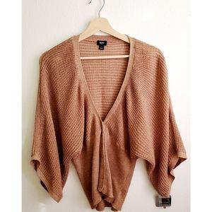 Mossimo Knit Blouse Sz L Beige/Brown.